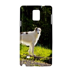 Borzoi In Woods Samsung Galaxy Note 4 Hardshell Case