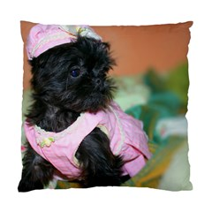 Brussels Griffon Dressed In Pink Standard Cushion Case (one Side)