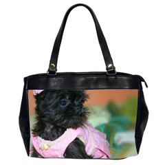 Brussels Griffon Dressed In Pink Office Handbags (2 Sides)