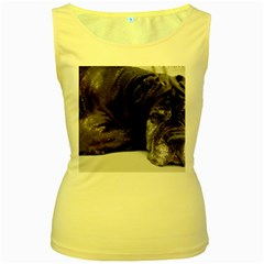 Neapolitan Mastiff Laying Women s Yellow Tank Top