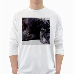 Neapolitan Mastiff Laying White Long Sleeve T Shirts