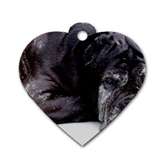 Neapolitan Mastiff Laying Dog Tag Heart (two Sides)