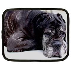 Neapolitan Mastiff Laying Netbook Case (large)