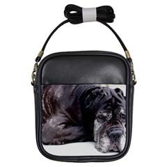Neapolitan Mastiff Laying Girls Sling Bags