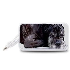 Neapolitan Mastiff Laying Portable Speaker (white)
