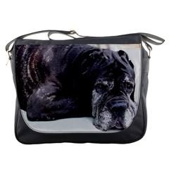 Neapolitan Mastiff Laying Messenger Bags