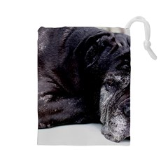 Neapolitan Mastiff Laying Drawstring Pouches (large)