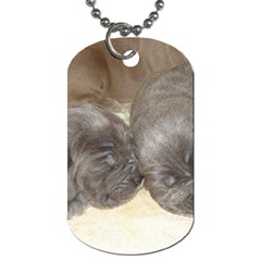 Neapolitan Pups Dog Tag (two Sides)