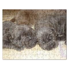 Neapolitan Pups Rectangular Jigsaw Puzzl