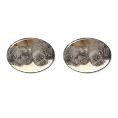 Neapolitan Pups Cufflinks (oval)