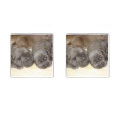Neapolitan Pups Cufflinks (square)