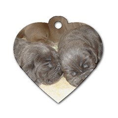 Neapolitan Pups Dog Tag Heart (two Sides)