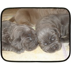 Neapolitan Pups Double Sided Fleece Blanket (mini)