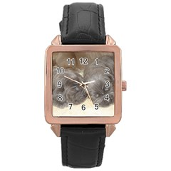 Neapolitan Pups Rose Gold Leather Watch