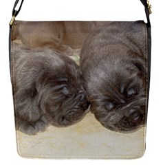 Neapolitan Pups Flap Messenger Bag (s)