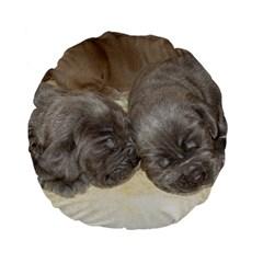 Neapolitan Pups Standard 15  Premium Flano Round Cushions