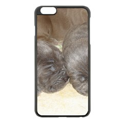 Neapolitan Pups Apple Iphone 6 Plus/6s Plus Black Enamel Case