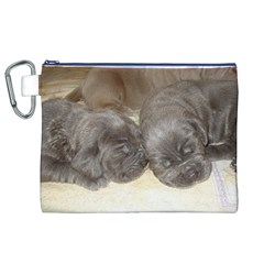 Neapolitan Pups Canvas Cosmetic Bag (xl)