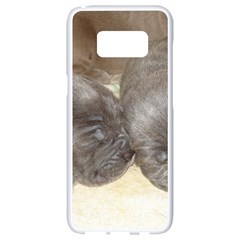 Neapolitan Pups Samsung Galaxy S8 White Seamless Case