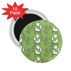 Cow Flower Pattern Wallpaper 2 25  Magnets (10 Pack)