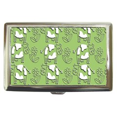 Cow Flower Pattern Wallpaper Cigarette Money Cases