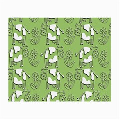 Cow Flower Pattern Wallpaper Small Glasses Cloth
