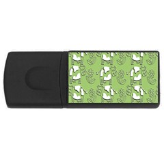 Cow Flower Pattern Wallpaper Rectangular Usb Flash Drive