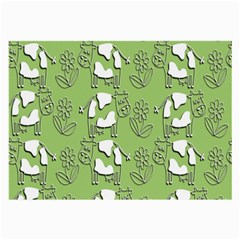 Cow Flower Pattern Wallpaper Large Glasses Cloth (2 Side)
