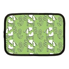 Cow Flower Pattern Wallpaper Netbook Case (medium)
