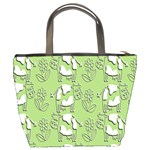 Cow Flower Pattern Wallpaper Bucket Bags Back
