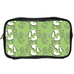 Cow Flower Pattern Wallpaper Toiletries Bags 2-Side Back