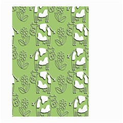 Cow Flower Pattern Wallpaper Small Garden Flag (two Sides)