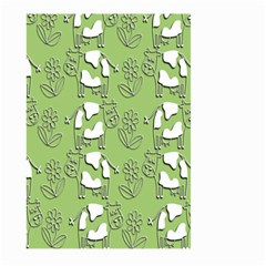 Cow Flower Pattern Wallpaper Large Garden Flag (two Sides)