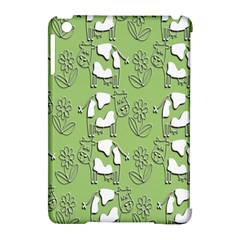 Cow Flower Pattern Wallpaper Apple Ipad Mini Hardshell Case (compatible With Smart Cover)