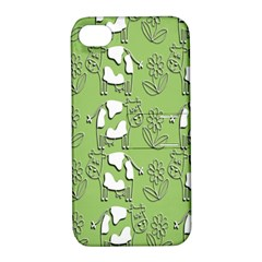 Cow Flower Pattern Wallpaper Apple Iphone 4/4s Hardshell Case With Stand