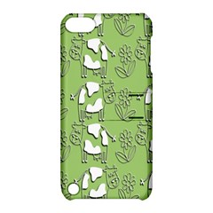 Cow Flower Pattern Wallpaper Apple Ipod Touch 5 Hardshell Case With Stand