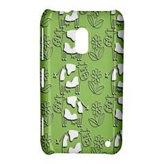 Cow Flower Pattern Wallpaper Nokia Lumia 620