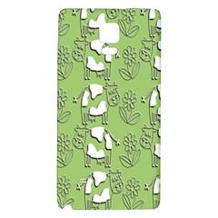 Cow Flower Pattern Wallpaper Galaxy Note 4 Back Case