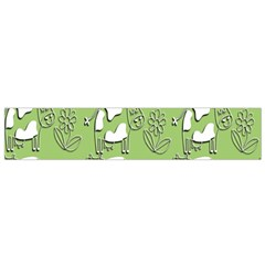 Cow Flower Pattern Wallpaper Flano Scarf (small)