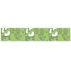 Cow Flower Pattern Wallpaper Flano Scarf (large)