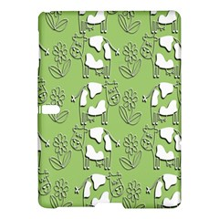Cow Flower Pattern Wallpaper Samsung Galaxy Tab S (10 5 ) Hardshell Case