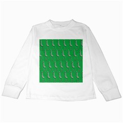 Giraffe Pattern Wallpaper Vector Kids Long Sleeve T Shirts