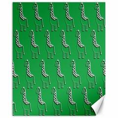 Giraffe Pattern Wallpaper Vector Canvas 16  X 20