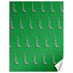 Giraffe Pattern Wallpaper Vector Canvas 18  X 24