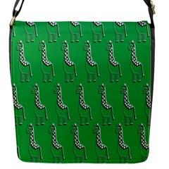 Giraffe Pattern Wallpaper Vector Flap Messenger Bag (s)