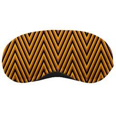 Chevron Brown Retro Vintage Sleeping Masks