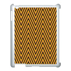 Chevron Brown Retro Vintage Apple Ipad 3/4 Case (white)