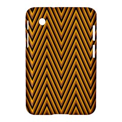 Chevron Brown Retro Vintage Samsung Galaxy Tab 2 (7 ) P3100 Hardshell Case