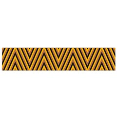 Chevron Brown Retro Vintage Flano Scarf (small)
