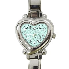Pattern Medicine Seamless Medical Heart Italian Charm Watch